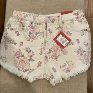 Mossimo Floral Denim shorts